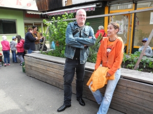die Pateneltern sind glücklich - Margit Huttar und Frank Placke