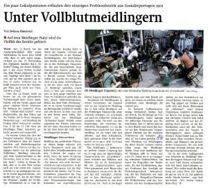 Wir sind 12! = Vollblutmeidlinger! Artikel der Wiener Zeitung vom 31.5.2013