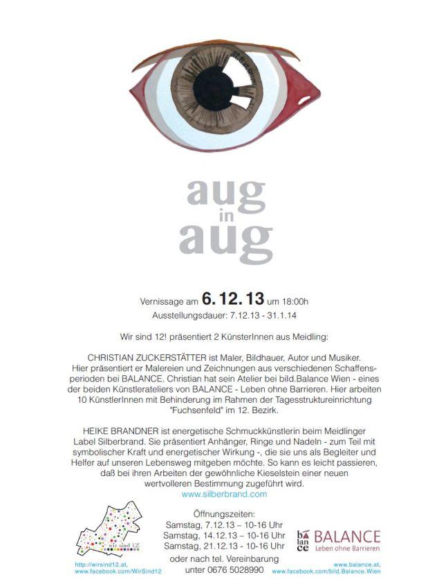 """Ausstellung """"Aug in Aug"""" – Christian Zuckerstätter und HeikeBrandner"""