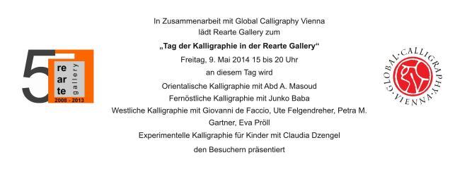 Tag der Kalligraphie in der Rearte Gallery