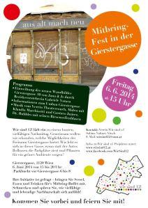 Mitbring-Fest in der Gierstergasse - 6.6.2014 Plakatdesign by www.vektorama.at