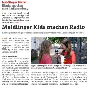 gemeinsames Projekt von Radio Orange 94.0 und dem Verein Wir sind 12!