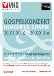 VHS Meidling Gospel-Konzert am 26.1.2016