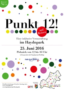 Reiseziel 2: Punkt 12! Picknick im Hadynpark - 25.06.2016